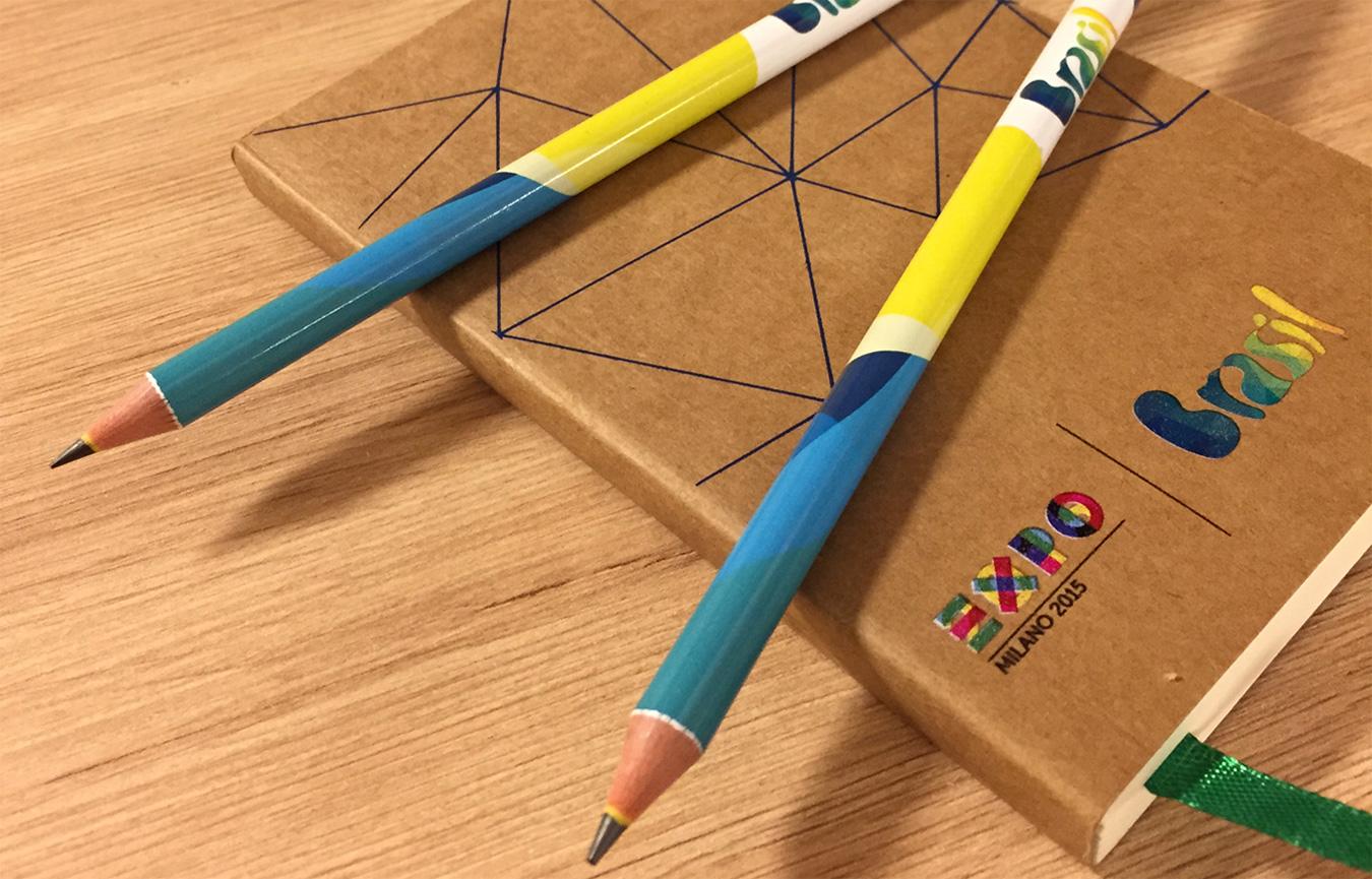 Moleskines Lápis Expo Milão 2015 Pavilhão Brasileiro Refigueiredo