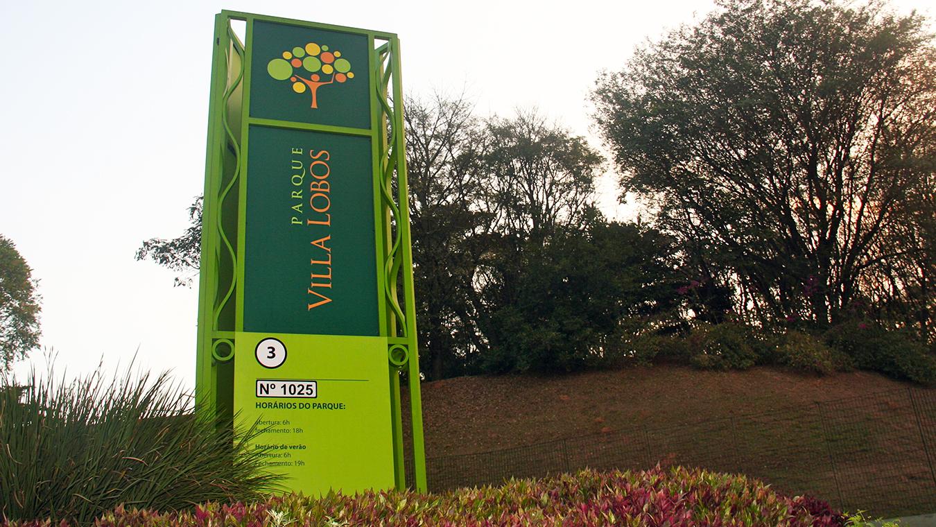 Parque Villa Lobos Sinalização Refigueiredo