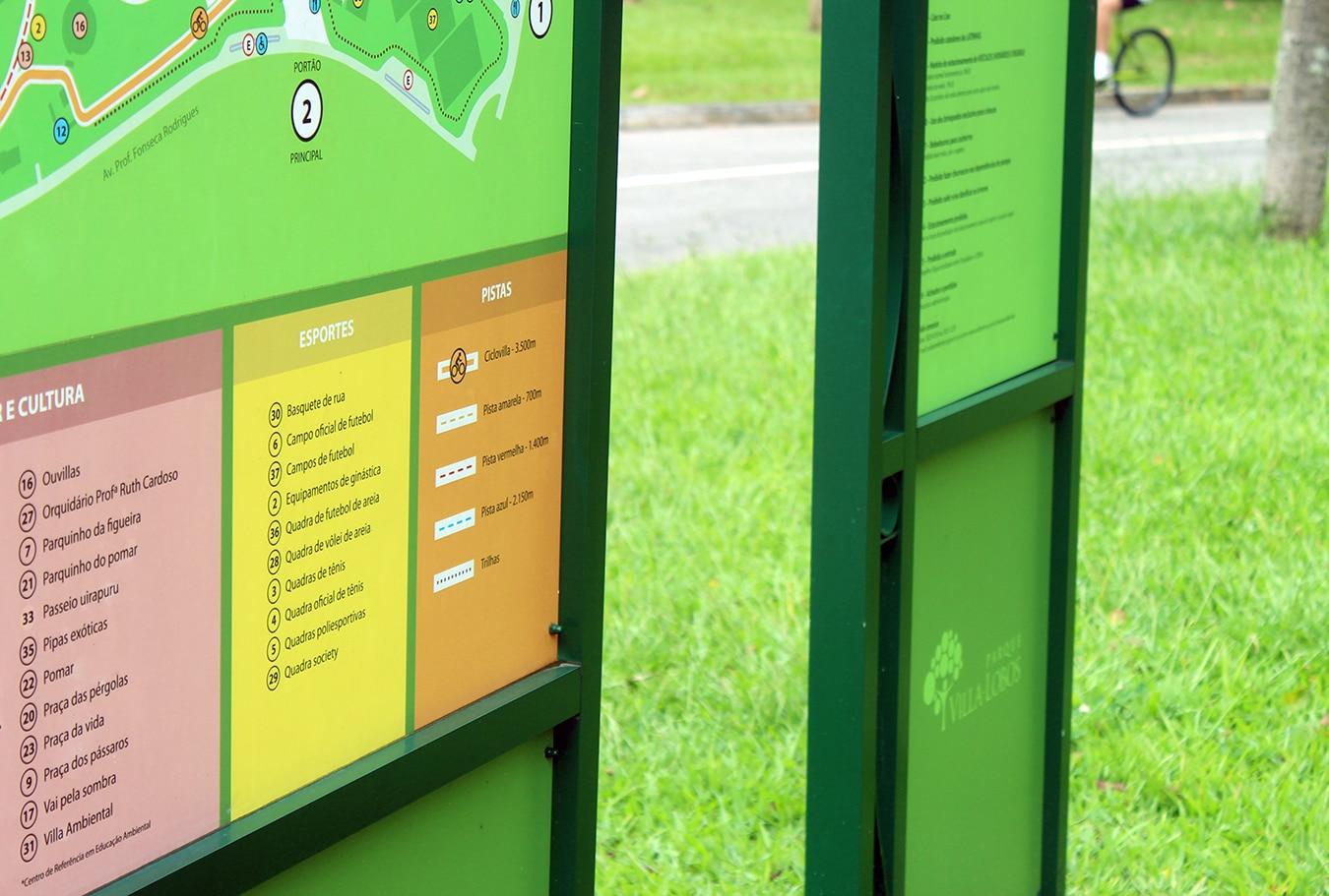 Parque Villa Lobos Sinalização 3 Refigueiredo