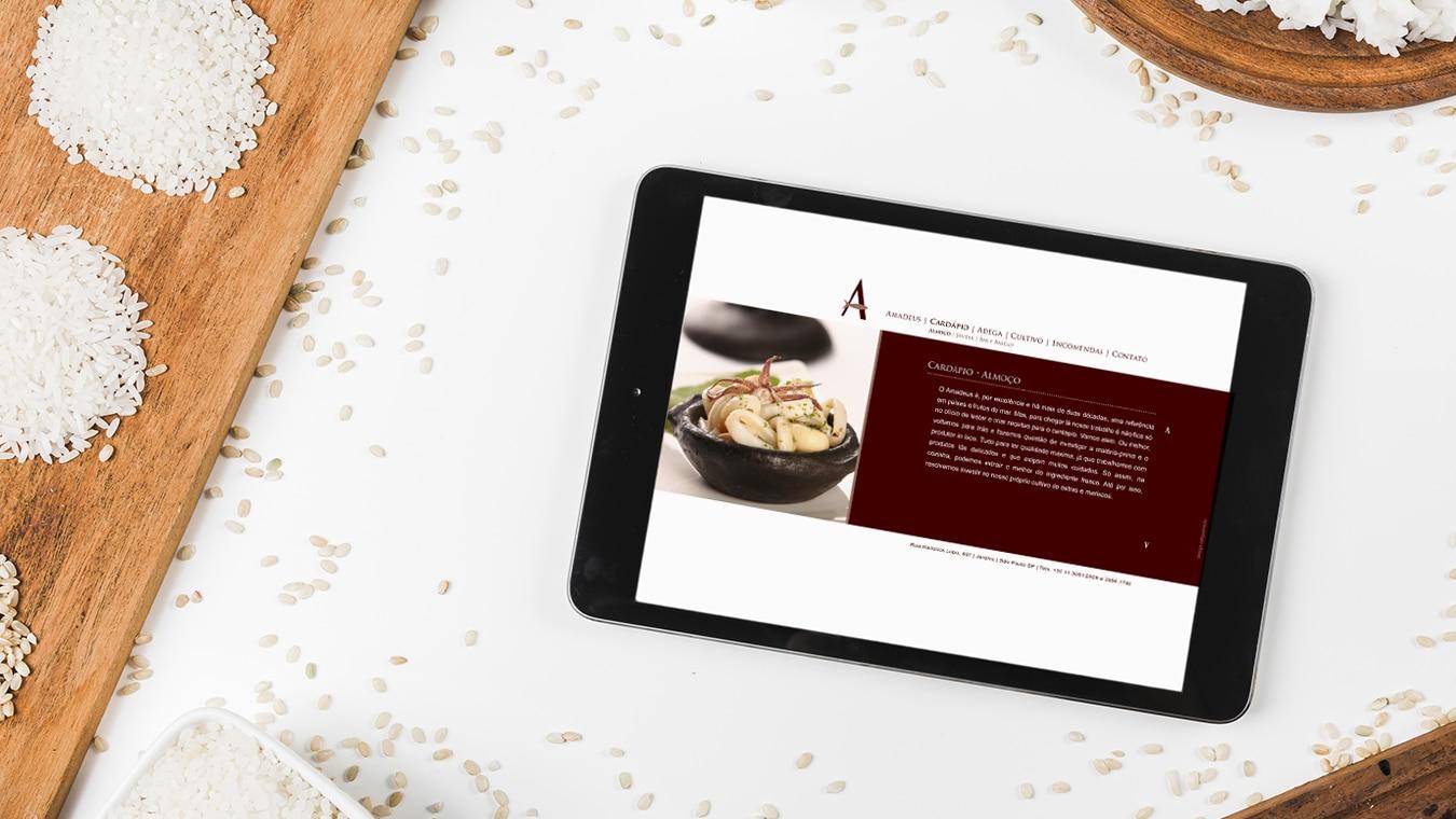 Site Restaurante Amadeus Refigueiredo
